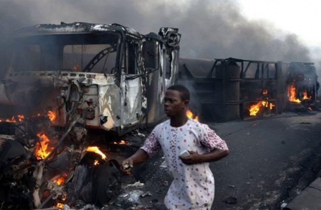 Accidente de tránsito deja 50 muertos y decenas de quemados en Congo