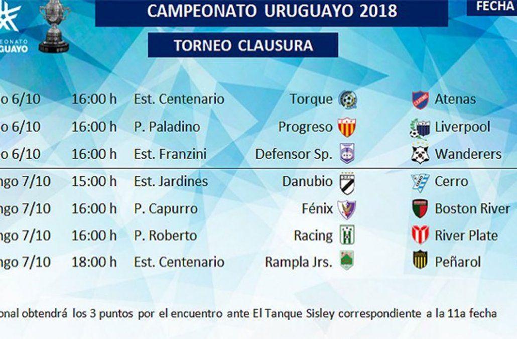 Este sábado se disputan tres partidos por la 11ª fecha del Torneo Clausura