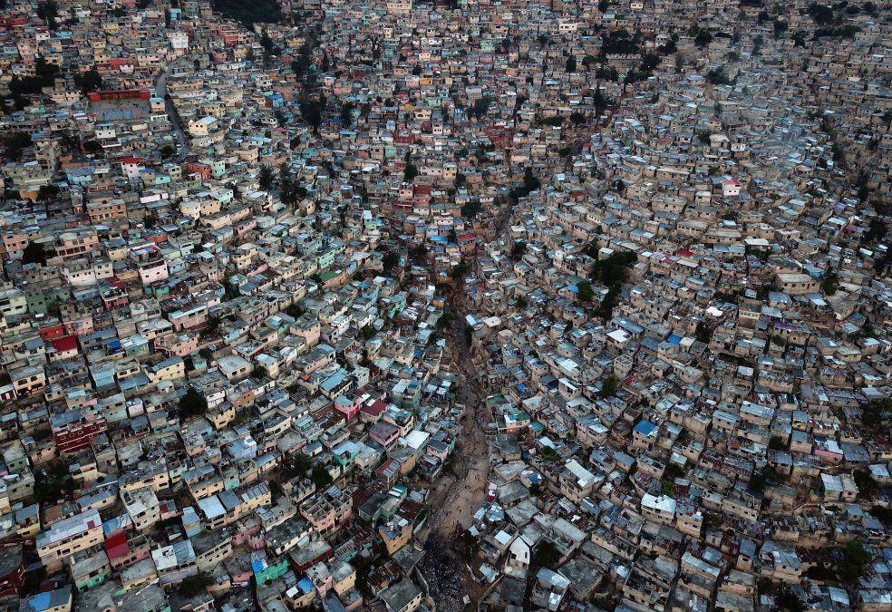 Vista aérea del barrio Petion Ville