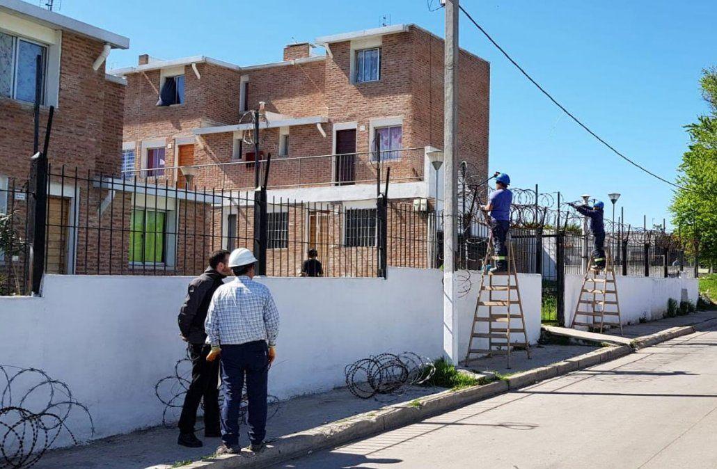 Se desmanteló el petrímetro de alambres de púa instalado por la organización criminal