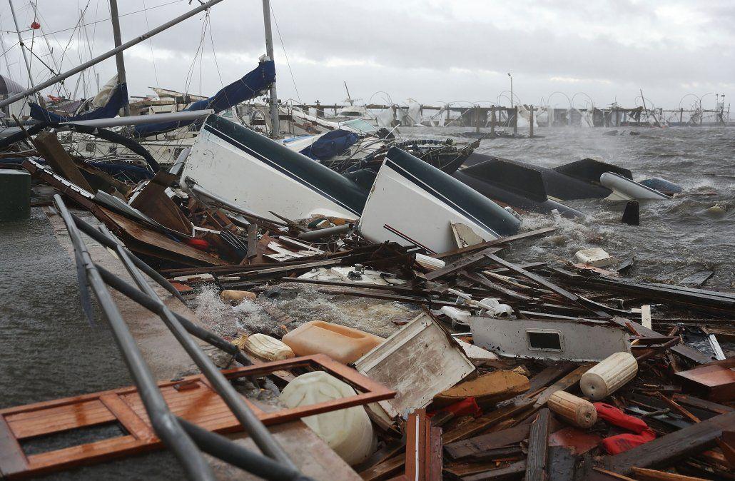 Huracán Michael deja una escena de guerra en el noroeste de Florida