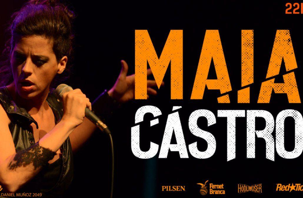 Maia Castro en un show donde repasa su repertorio y presenta Quinto