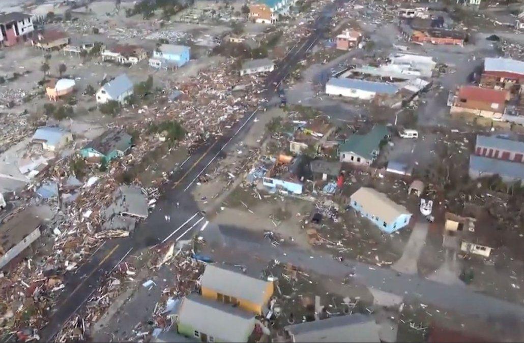 Así quedó la zona devastada por el huracán Michael en el sureste de EE.UU.