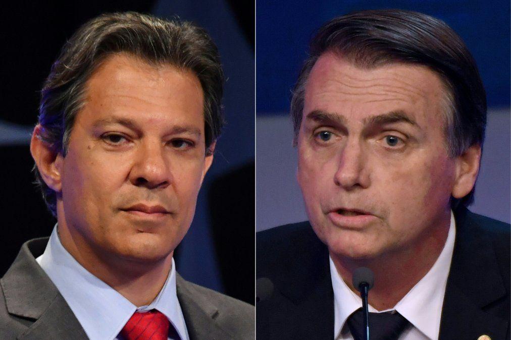 Haddad acorta distancia con Bolsonaro y reduce índice de rechazo en Brasil