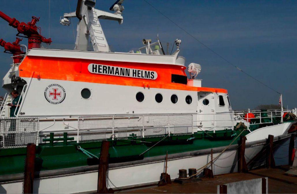 La Armada compró dos barcos alemanes para mejorar tareas de búsqueda y rescate
