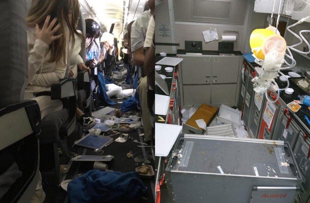 Fuerte turbulencia en un vuelo de Aerolíneas dejó 15 heridos