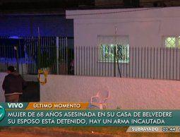 Mujer de 68 años asesinada por su pareja en Belvedere