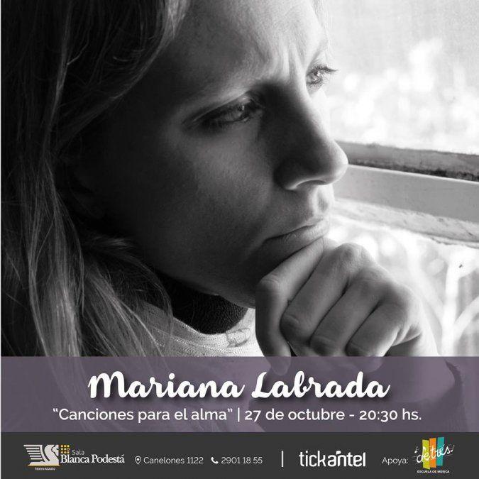 En octubre Mariana Labrada Cary se presenta en la Sala Blanca Podestá