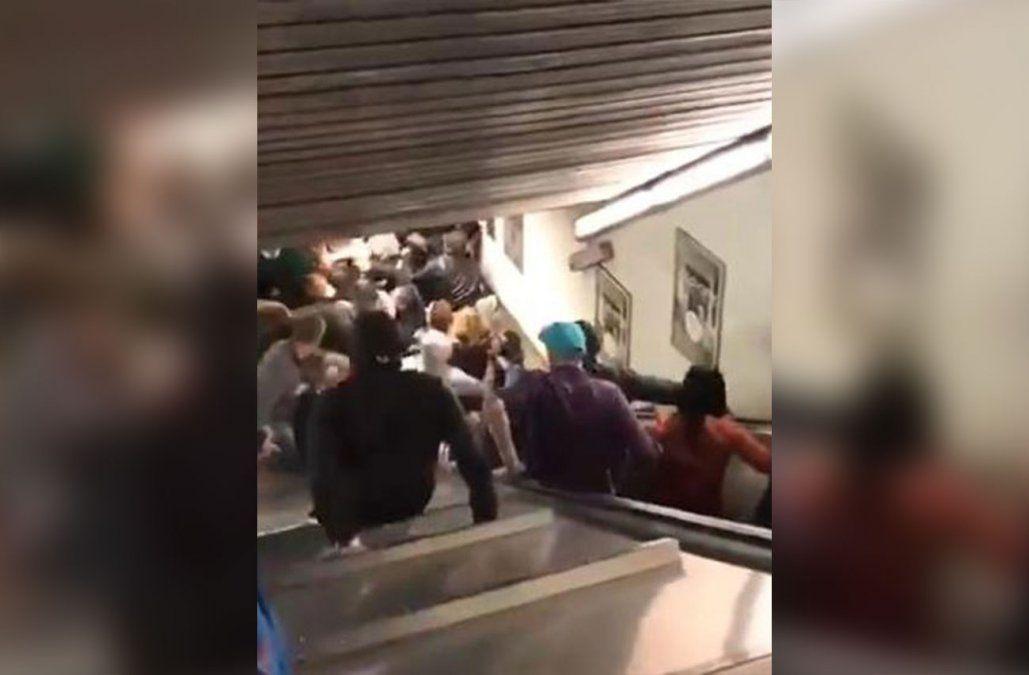 Caos y pánico en Roma: derrumbe de escalera mecánica en el metro dejó 20 heridos