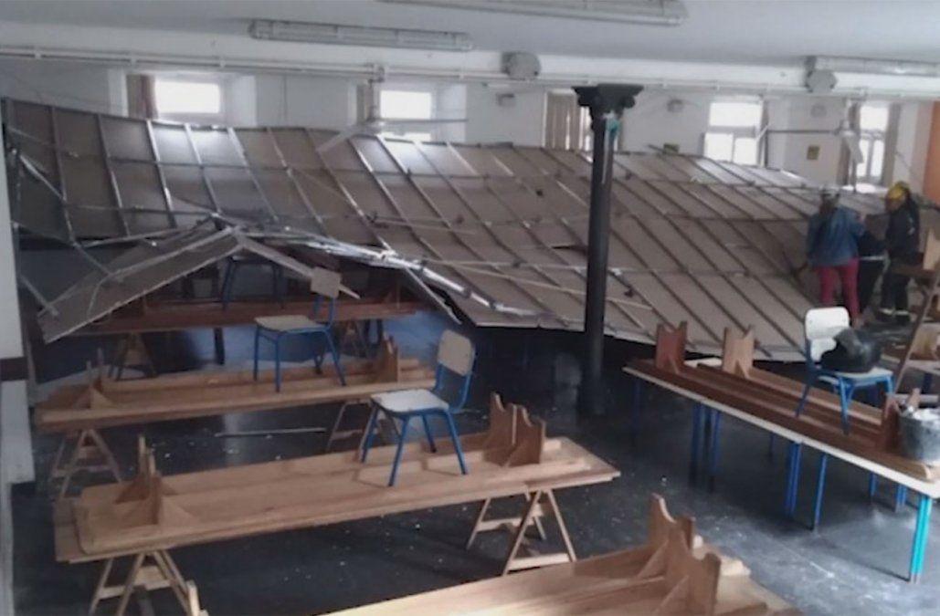 Primaria asegura que comedor de Escuela Brasil quedará pronto en 15 días tras desplome