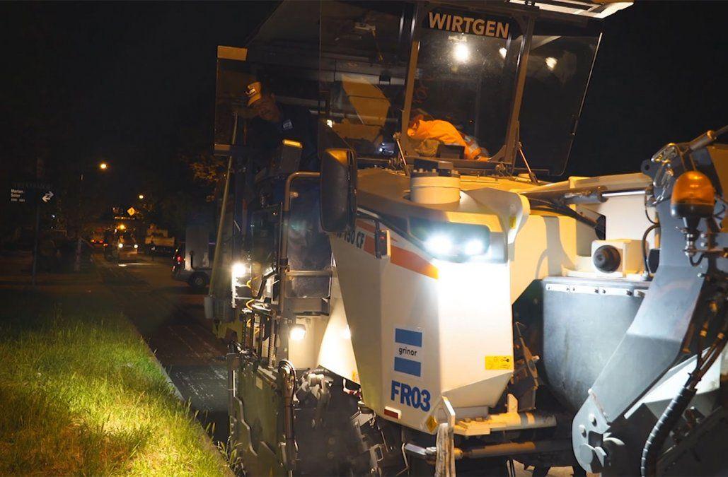 IMM inicia la experiencia de reparaciones viales nocturnas en Luis Alberto de Herrera