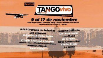 El Festival Tango vivo vuelve en el mes de noviembre