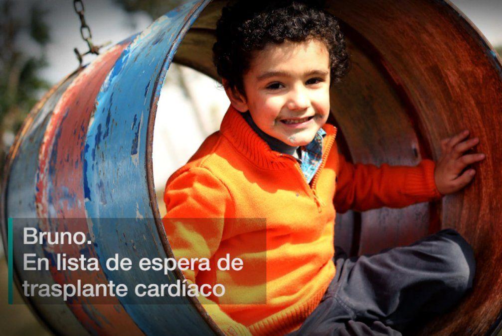 Bruno espera la posibilidad de un trasplante de corazón que salve su vida