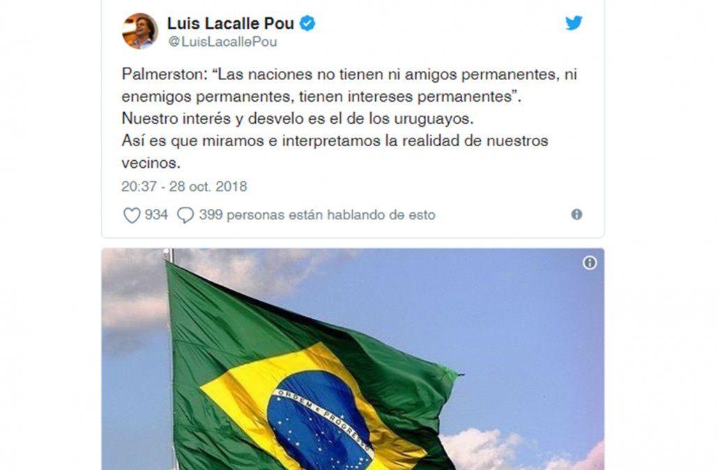 Tuit de Luis Lacalle Pou