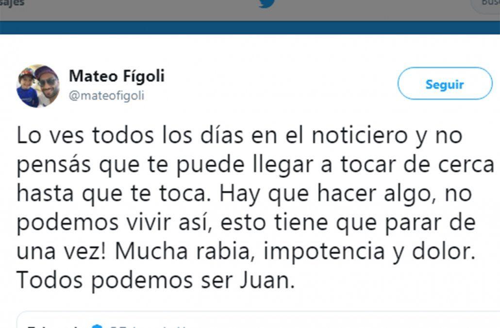 Twitter del futbolista Mateo Fígoli