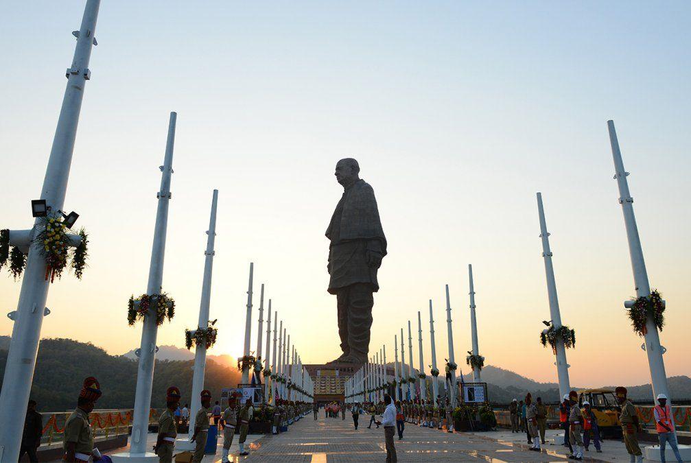 India inauguró la estatua más alta del mundo