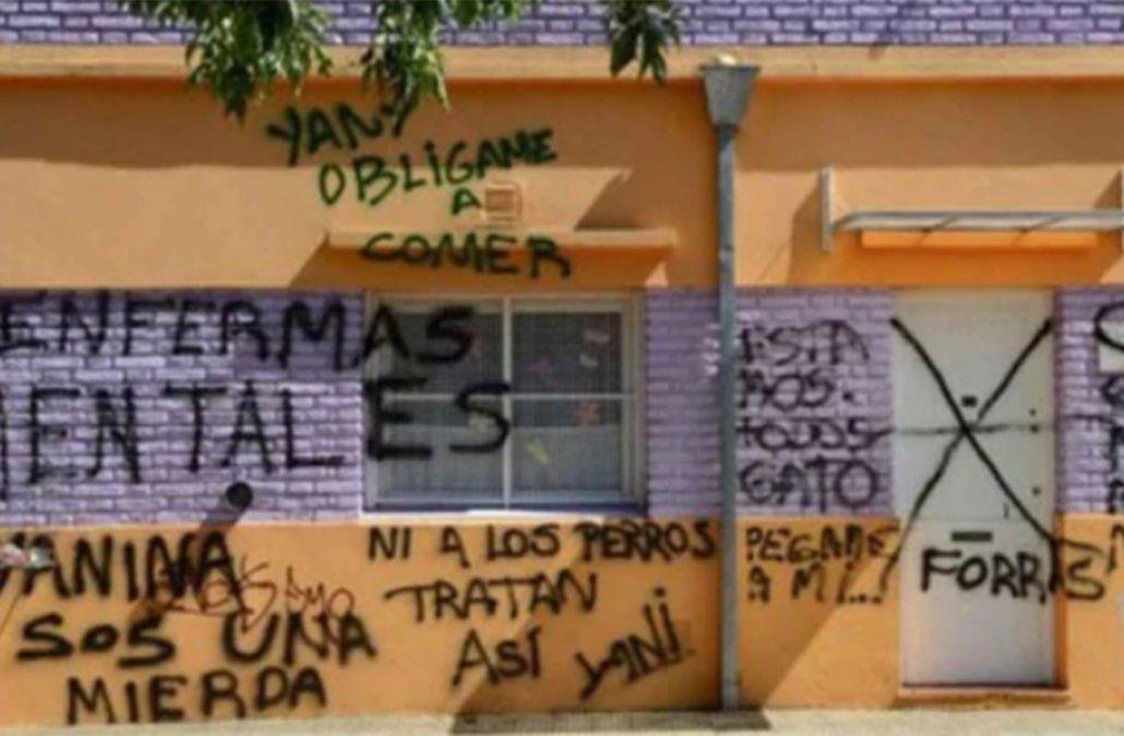 Pintadas callejeras frente al jardín maternal. La repercusión mediática generó indignación