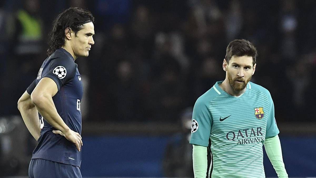 Cavani y Messi