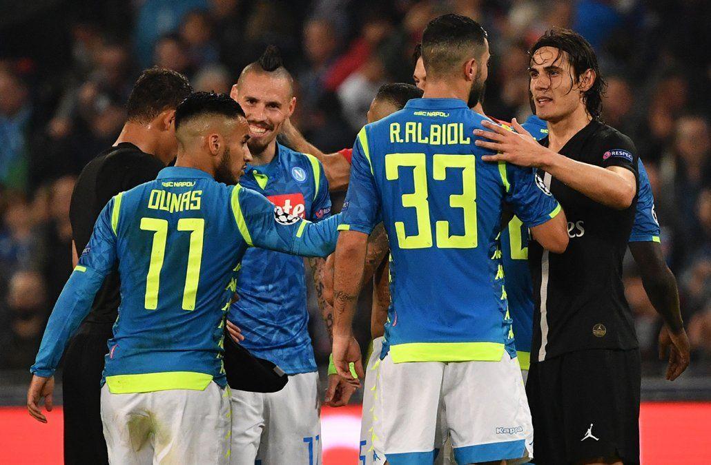 Nápoles y París SG empatan a un gol y emparejan el grupo C