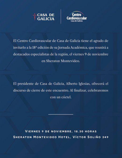 Centro Cardiovascular de Casa de Galicia presenta Jornada Académica
