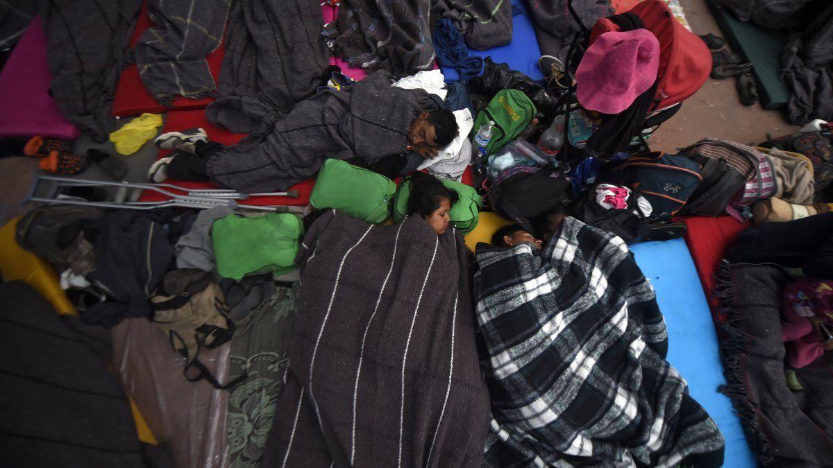 Migrantes -principalmente hondureños- en viaje a Estados Unidos