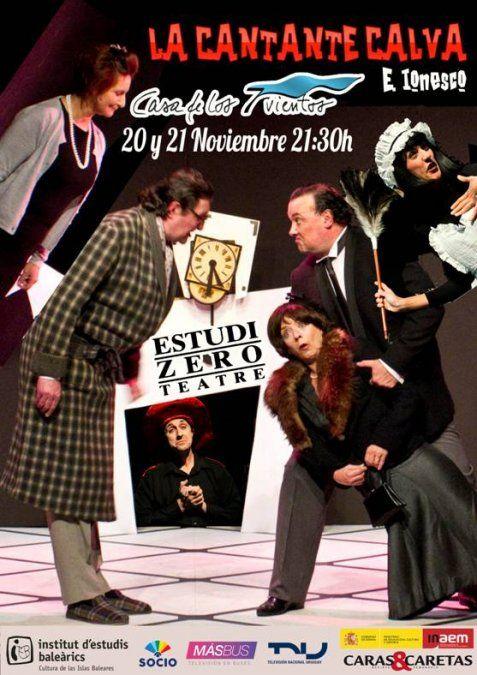 La Cantante Calva de Estudi Zero Teatre llega a Montevideo