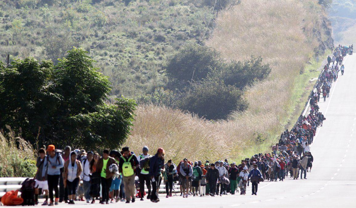 Además de hondureños hay migrantes de Chile