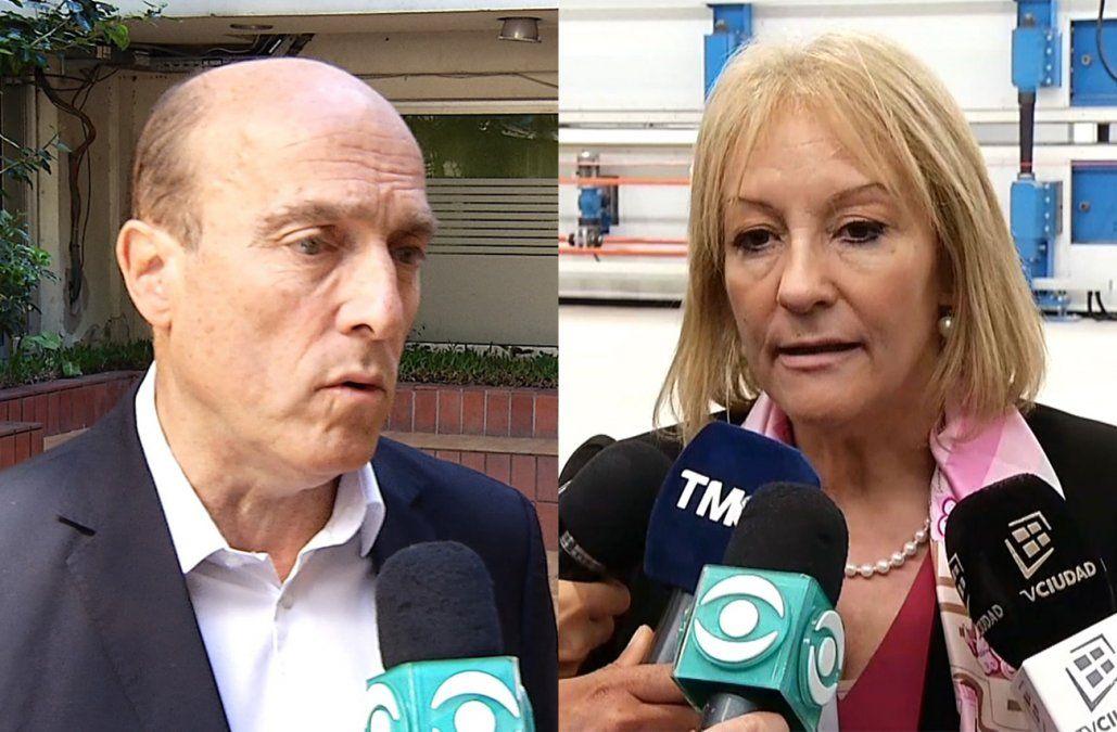 Carolina Cosse y Daniel Martínez discrepan sobre qué hacer para mejorar la seguridad