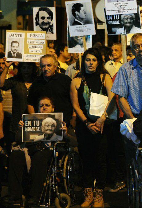 Marcha por los detenidos-desaparecidos el 20 de mayo de 2015