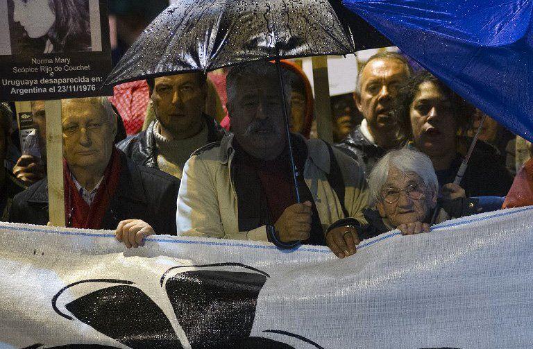 Luisa en la marcha del 20 de mayo de 2014