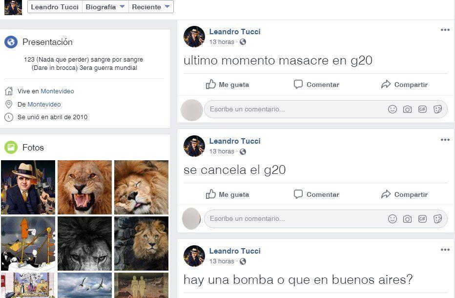 Antrincherado dijo ser yihadista y que atentaría contra el G20 en Buenos Aires