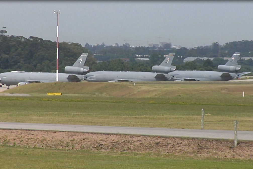 Llegaron seis aviones norteamericanos que trabajarán en seguridad del G20