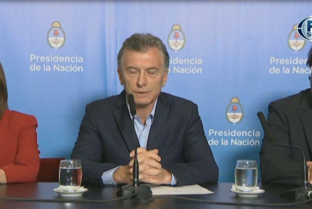 Macri calificó como triste y frustrante lo ocurrido en la fallida final