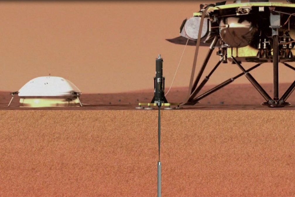 La Sonda Insight de la Nasa logró posarse en Marte