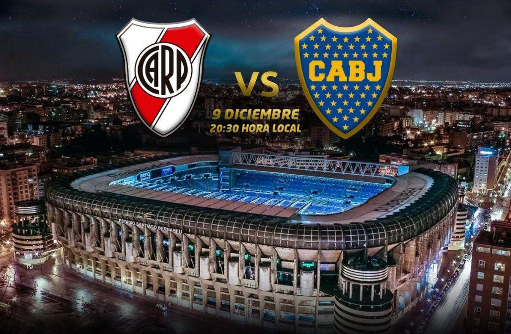Final de la Libertadores River Plate-Boca se jugará el 9 en Madrid