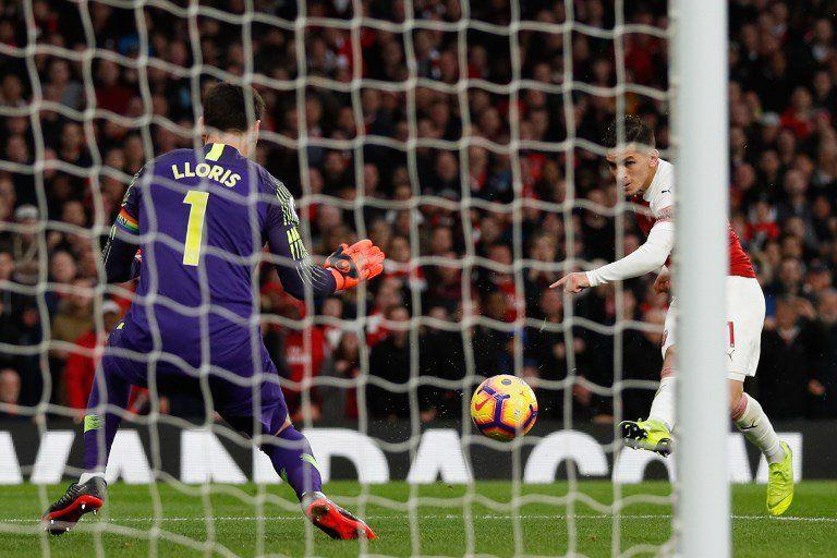 Lucas Torreira brilló en el clásico Arsenal--Chelsea y convirtió uno de los goles