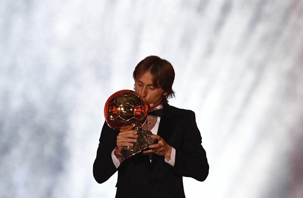 Luka Modric ganó el Balón de Oro al mejor futbolista del mundo