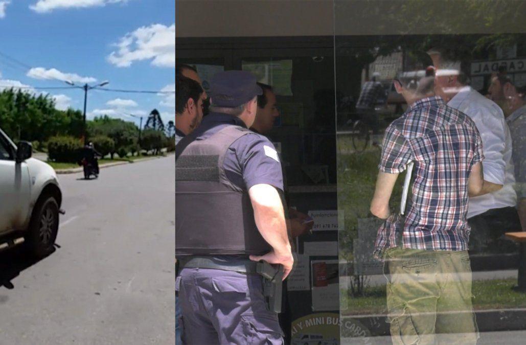 Un delincuente con peluca y a cara descubierta robó un local de pagos en Cardal