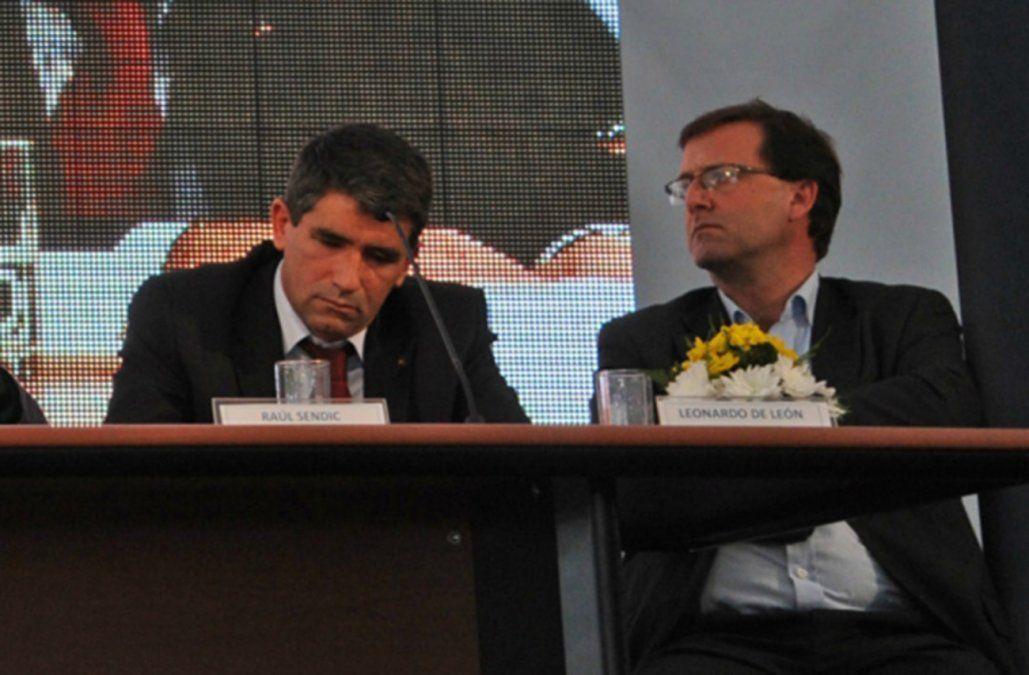 De León y Sendic cuando estaban juntos en Ancap