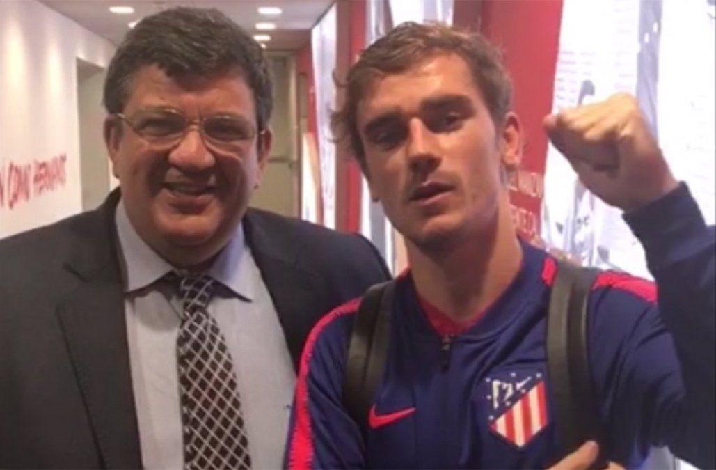 Un abracito a todos los manyas, el saludo de Griezmann a los hinchas de Peñarol
