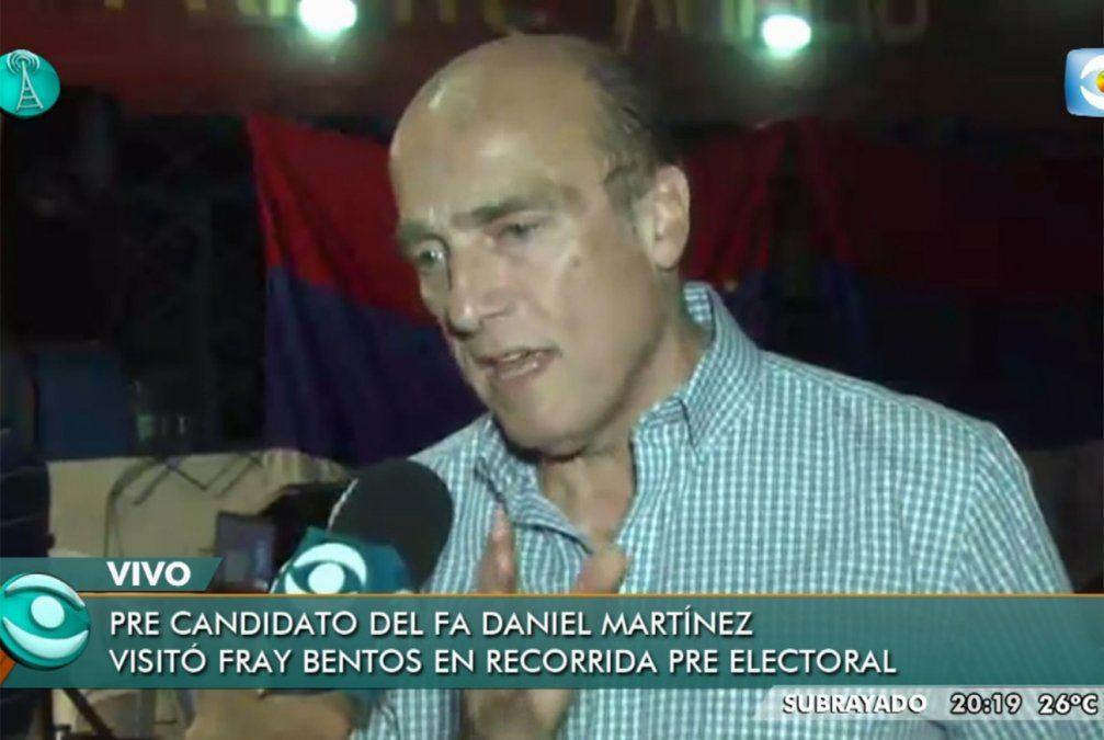 Daniel Martínez declaró que hay que reprimir a los malandros