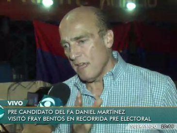 """Daniel Martínez declaró que hay que """"reprimir a los malandros"""""""
