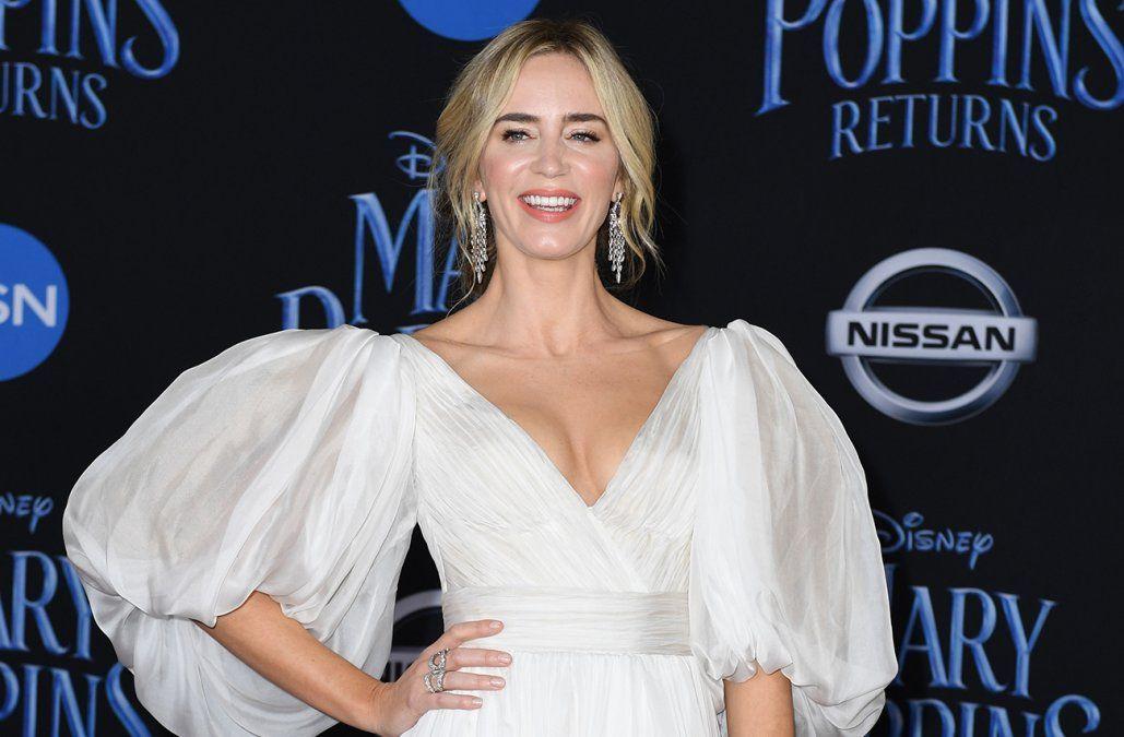 La actriz Emily Blunt será Mary Poppins en El regreso de Mary Poppins que se estrenará en diciembre.