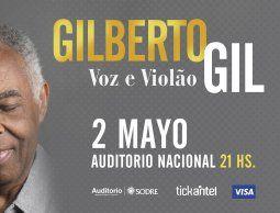 "Gilberto Gil llega con su espectáculo ""Voz e violão"""