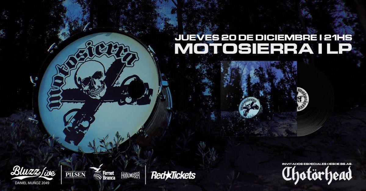 Motosierra presenta su álbum homónimo en dos formatos: vinilo y cassette