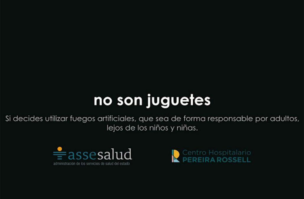 Campaña responsabiliza a los adultos por quemaduras en niños por uso de pirotecnia