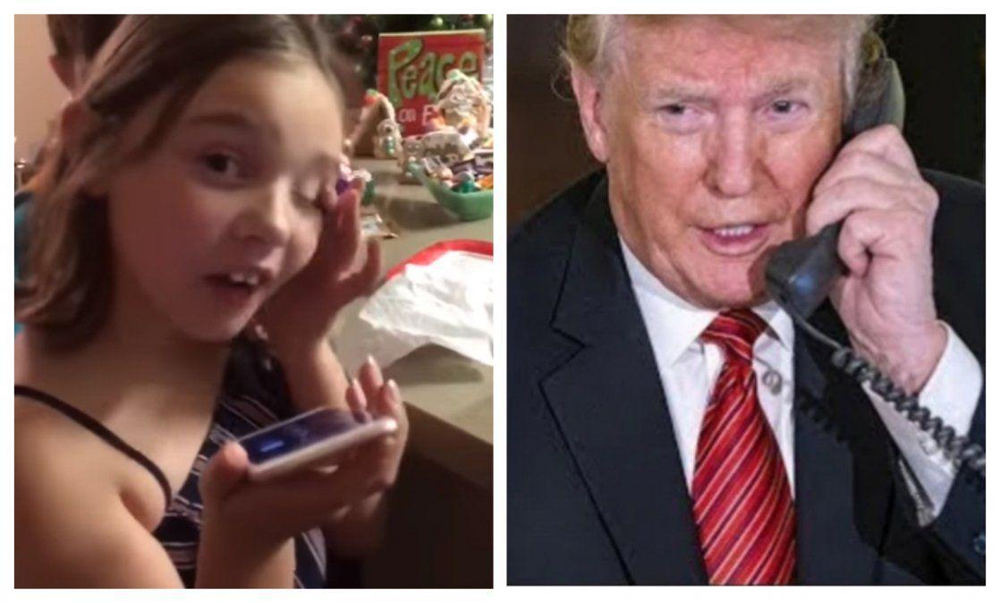 Collman habló con Trump porque estaba siguiendo en tiempo real la llegada de regalos de Santa Claus