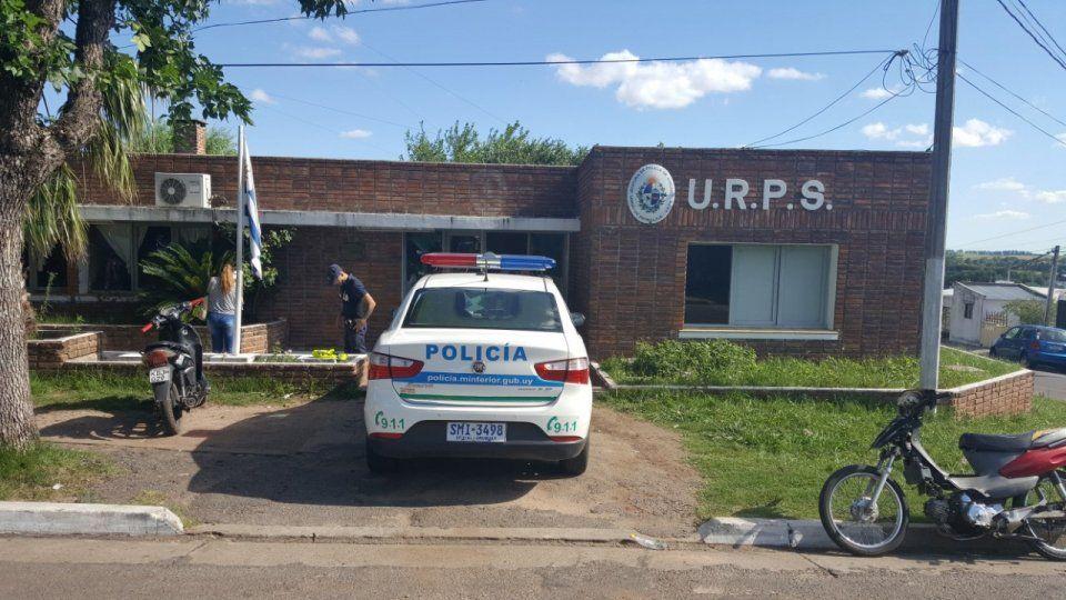 La Unidad de Radio patrulla de Soriano donde estaba detenido A.R.