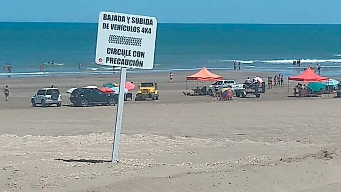 La zona habilitada de playa que ahora vuelve a estar en la mira de las autoridades.