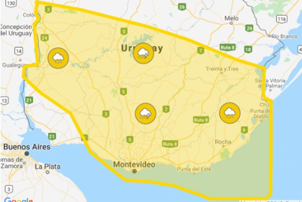 Continúa alerta amarilla por persistencia de tormentas y lluvias